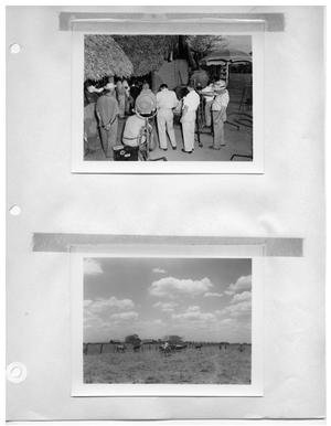 Primary view of object titled '[On the Set in Town] and [In a Field]'.