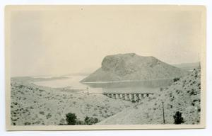 Primary view of object titled '[Bridge Near a Lake]'.