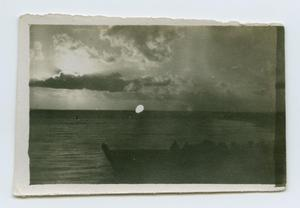 Primary view of object titled '[Boat on a Body of Water]'.