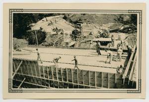 Primary view of object titled '[Construction Workers Building a Road]'.