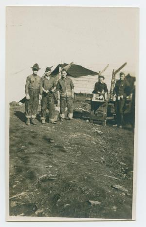 Primary view of object titled '[Five Men in Uniform]'.