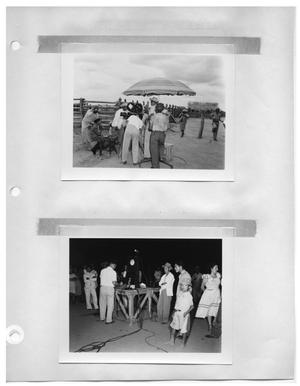 Primary view of object titled '[Filming Townspeople] and [Recording a Social Event]'.