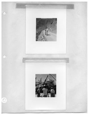 Primary view of object titled '[Discussing the View] and [Three Crewmembers at the Shipyard]'.
