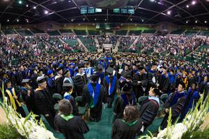 Primary view of object titled '[Photograph from UNT Fall Commencement]'.