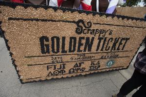 Primary view of object titled '[Scrappy's Golden Ticket]'.