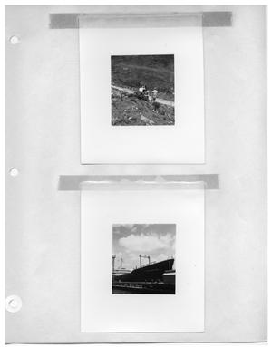 Primary view of object titled '[Getting a Shot of the Valley] and [A Ship, the Esso Montevideo]'.