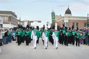Primary view of object titled '[Marching band from UNT Homecoming parade 2]'.