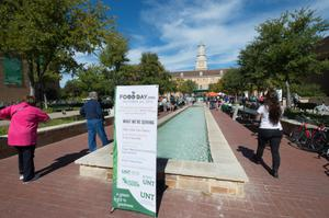 Primary view of object titled '[Food Day Event sign]'.
