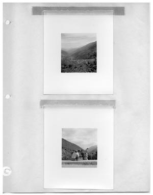 Primary view of object titled '[Valley] and [Checking the Light for a Shot from Mountain Road]'.
