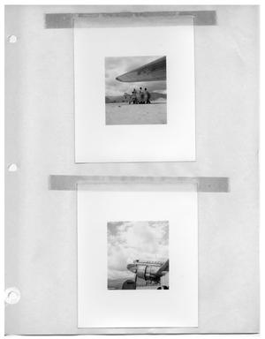 Primary view of object titled '[Filming a Plane at Take-Off, with Mountains and Clouds in Background] and [A Plane of the Venezuelan Airline Avensa]'.