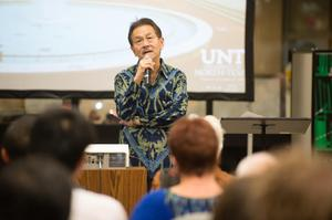 Primary view of object titled '[Chwee Ly Chng speaks at LGBT Event]'.
