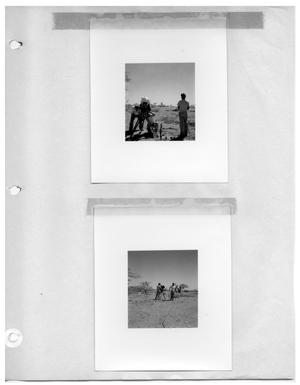 Primary view of object titled '[Camera Crew in Desert Plain] and [Camera Crew in Desert Plain]'.