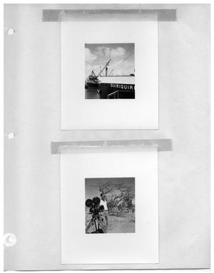 Primary view of object titled '[Ship : Quiriquire] and [Man with Camera]'.