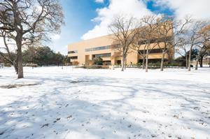 Primary view of object titled '[General Academic building during 2013 Ice Storm]'.