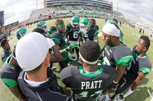 Primary view of object titled '[UNT Mean Green football players 2]'.
