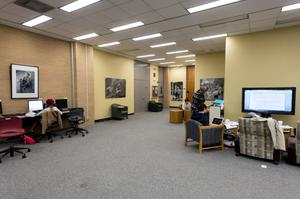 Primary view of object titled '[Willis Library Interior 2]'.