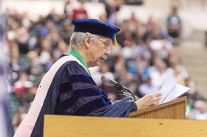 Primary view of object titled '[UNT Fall Commencement Ceremony speaker 2]'.