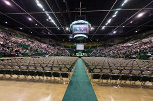Primary view of object titled '[Audience before UNT Commencement begins]'.