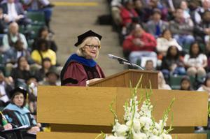 Primary view of object titled '[Speaker at UNT Fall Commencement 3]'.
