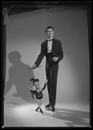 Primary view of object titled '[Jack Hines and marionette]'.