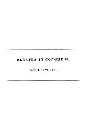 Primary view of Register of Debates in Congress, Comprising the Leading Debates and Incidents of the Second Session of the Twenty-Fourth Congress