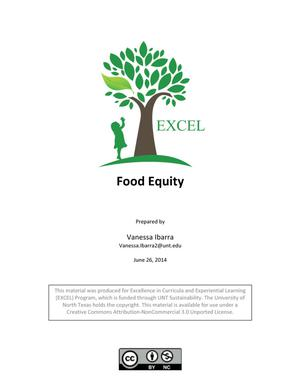 Primary view of object titled 'Food Equity'.