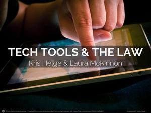 Primary view of object titled 'Tech Tools and the Law'.