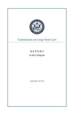 Primary view of object titled 'Commission on Long-Term Care: Report to the Congress'.