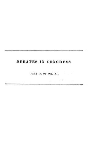 Primary view of object titled 'Register of Debates in Congress, Comprising the Leading Debates and Incidents of the First Session of the Twenty-Fourth Congress'.