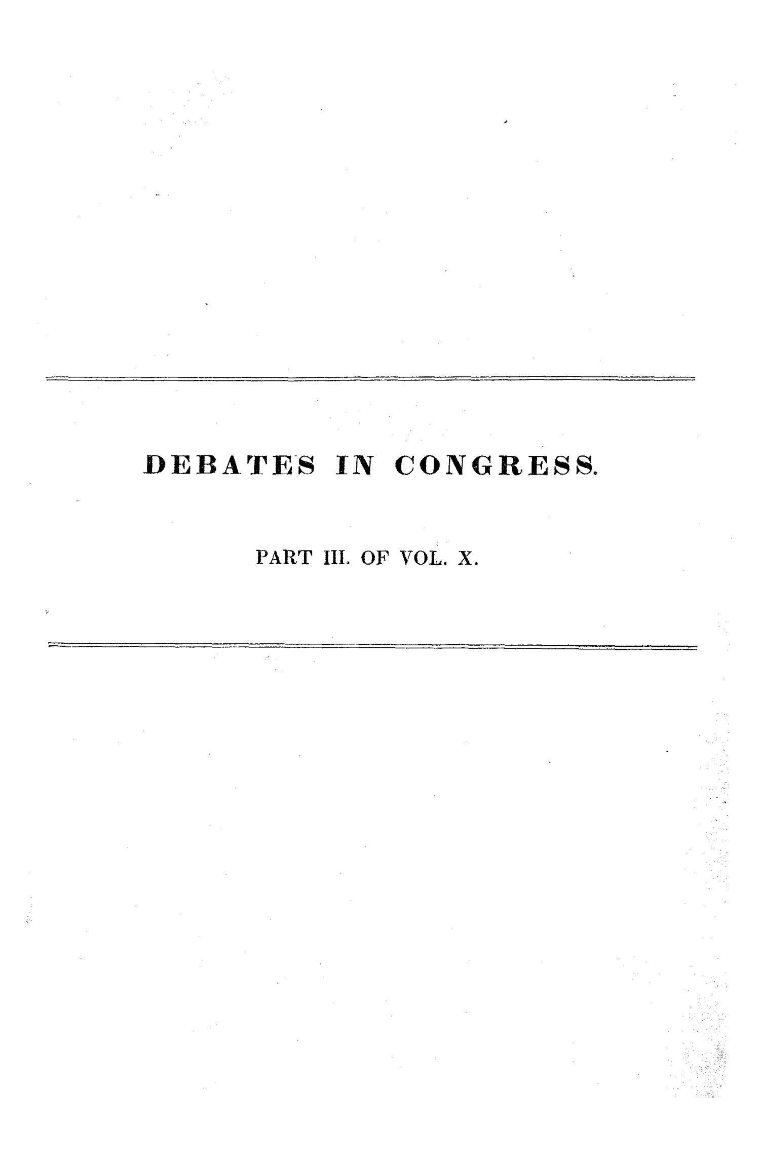 Register of Debates in Congress, Comprising the Leading Debates and Incidents of the First Session of the Twenty-Third Congress                                                                                                      None