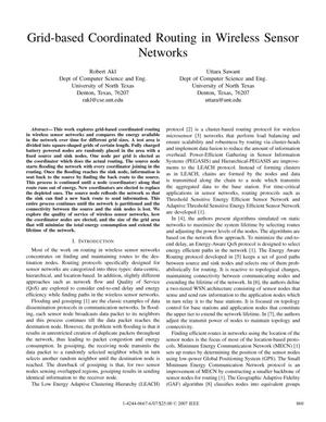 Primary view of object titled 'Grid-based Coordinated Routing in Wireless Sensor Networks'.