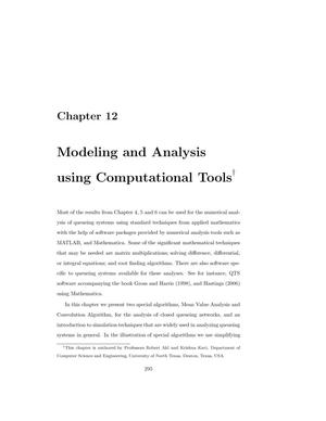 Modeling and Analysis Using Computational Tools