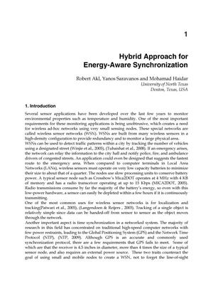 Hybrid Approach for Energy-Aware Synchronization