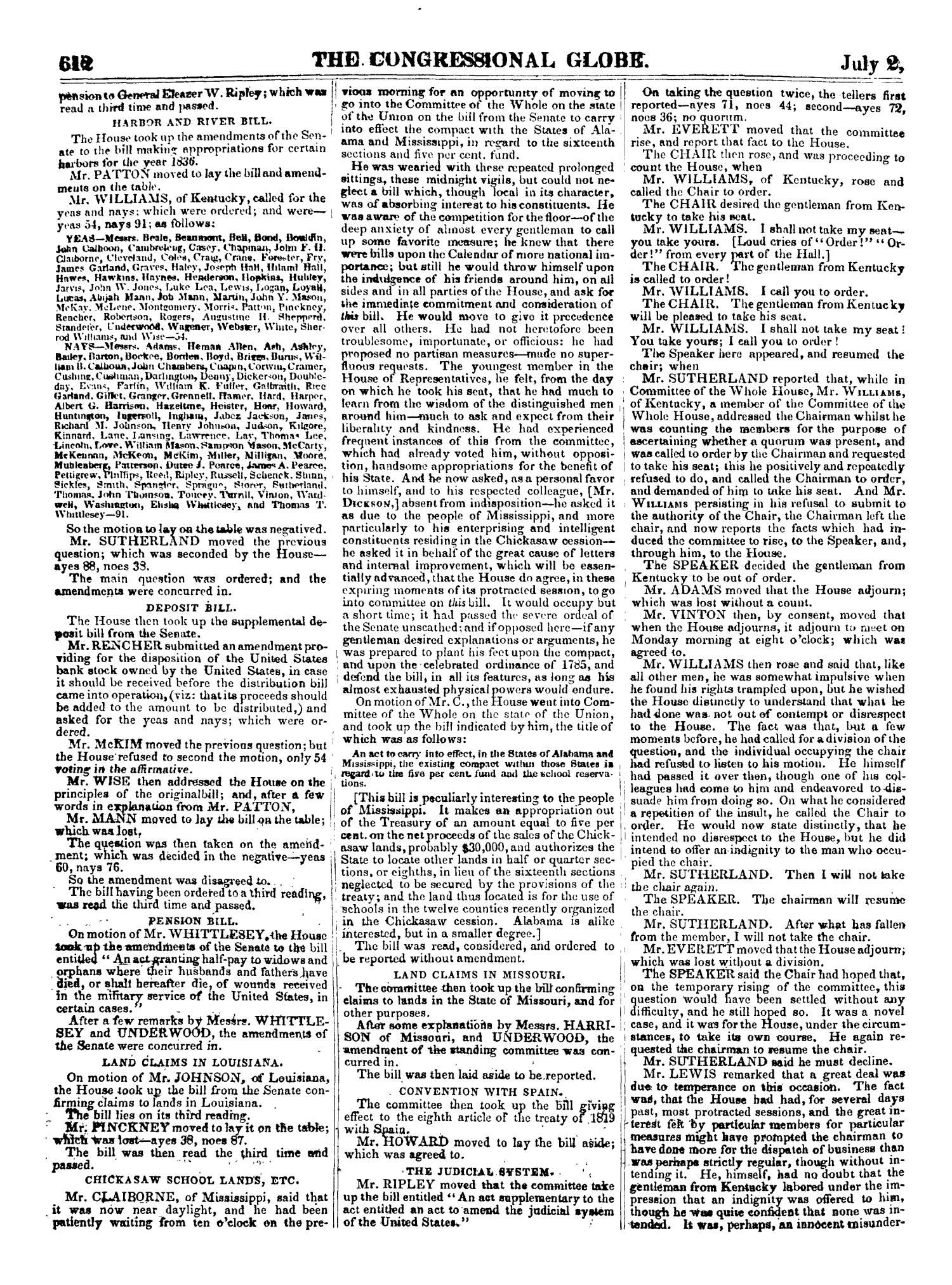 The Congressional Globe, Volume 2-3: Twenty-Fourth Congress, First Session                                                                                                      612