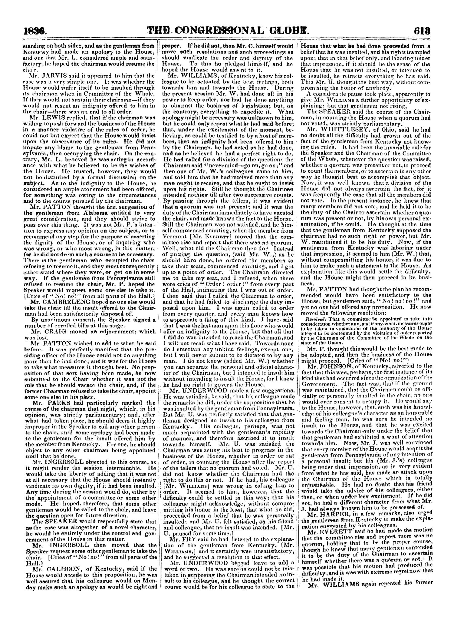 The Congressional Globe, Volume 2-3: Twenty-Fourth Congress, First Session                                                                                                      613