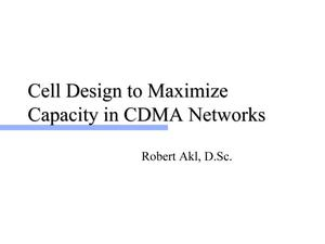 Primary view of object titled 'Cell Design to Maximize Capacity in CDMA Networks'.