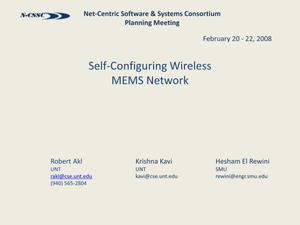 Primary view of object titled 'Self-Configuring Wireless MEMS Network'.