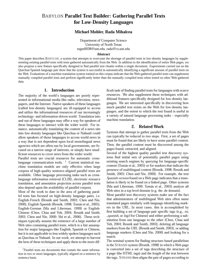 Abstract science paper