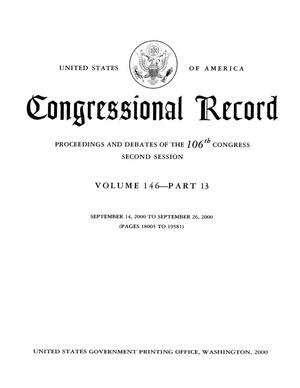 Congressional Record: Proceedings and Debates of the 106th Congress, Second Session, Volume 146, Part 13
