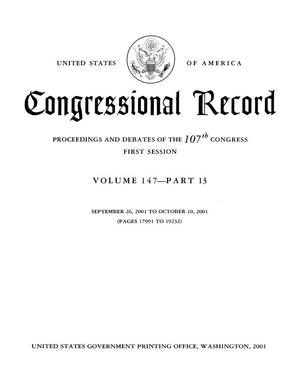 Primary view of object titled 'Congressional Record: Proceedings and Debates of the 107th Congress, First Session, Volume 147, Part 13'.