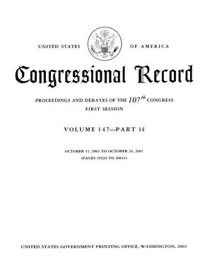 Congressional Record: Proceedings and Debates of the 107th Congress, First Session, Volume 147, Part 14
