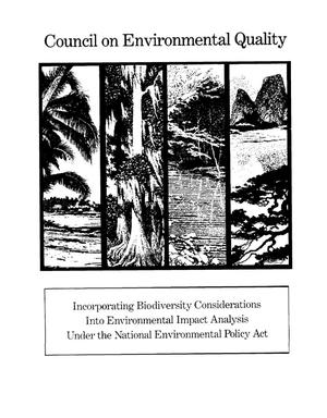 Incorporating biodiversity considerations into environmental impact analysis under the National Environmental Policy Act