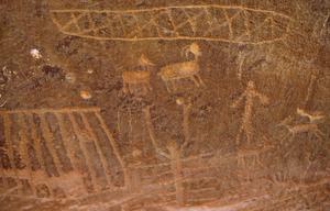 Primary view of Petroglyphs, Kane Creek Road, near Moab, Utah