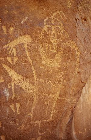 Primary view of Petroglyphs, Kane Creek Road, near Moab, Utah