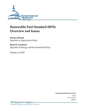 Renewable Fuel Standard (RFS): Overview and Issues