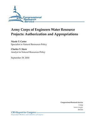 Army Corps of Engineers Water Resource Projects: Authorization and Appropriations