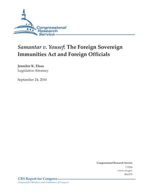 Samantar v. Yousef: The Foreign Sovereign Immunities Act and Foreign Officials