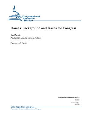 Hamas: Background and Issues for Congress