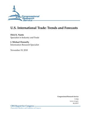 U.S. International Trade: Trends and Forecasts