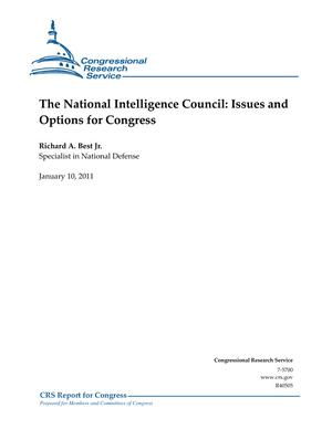 The National Intelligence Council: Issues and Options for Congress